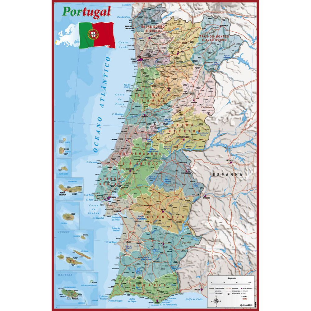 Mapa Portugal Rodrigues